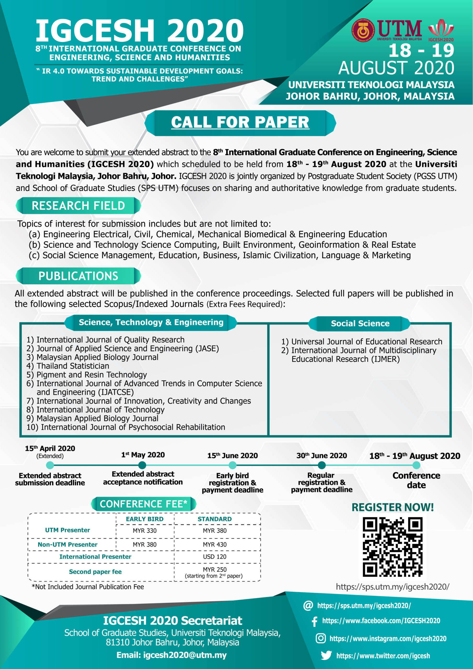 Call For Papers Igcesh 2020