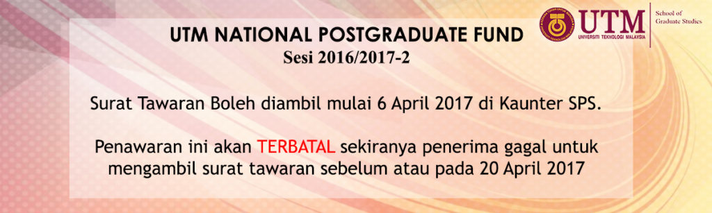 UTM NATIONAL POSTGRADUATE