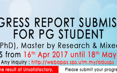 Progress Report Submission For PG Student