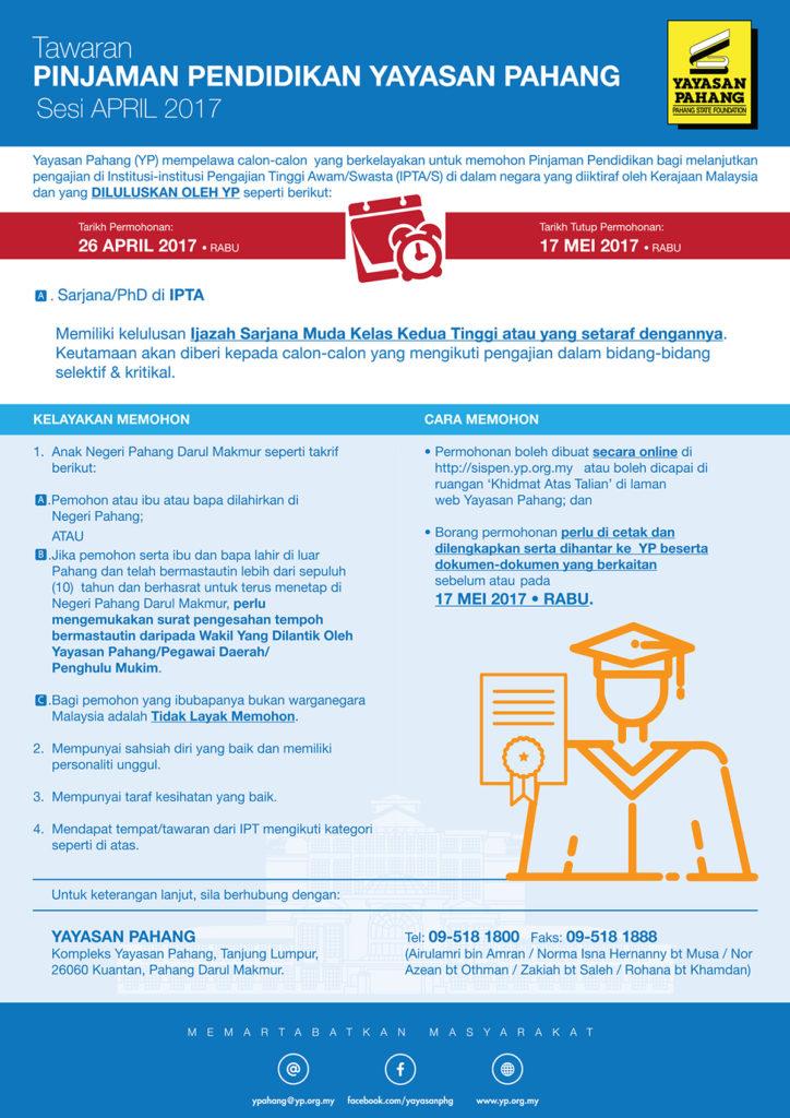 Pinjaman Pendidikan Yayasan Pahang