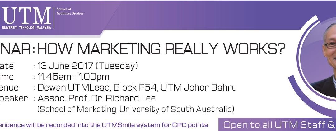 Seminar : How Marketing Really Works