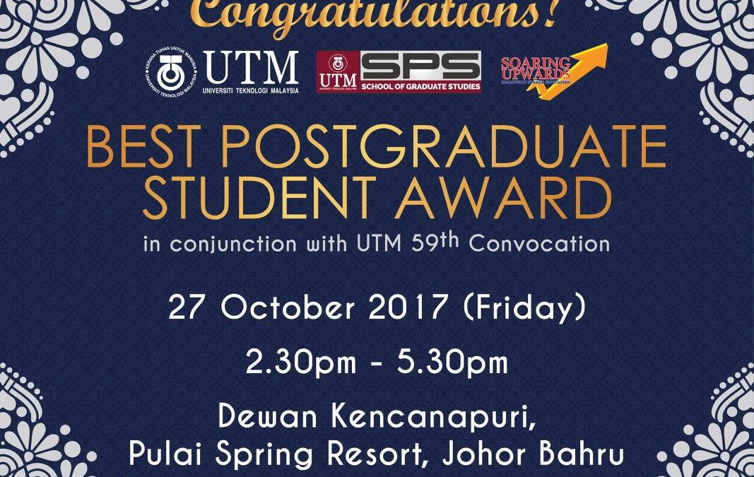 BEST POSTGRADUATE STUDENT AWARD