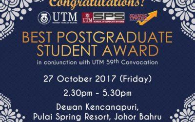 BEST POSTGRADUATE STUDENT AWARD