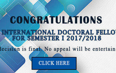 RESULT FOR INTERNATIONAL DOCTORAL FELLOWSHIP    ( IDF ) FOR SEMESTER 1 2017/2018