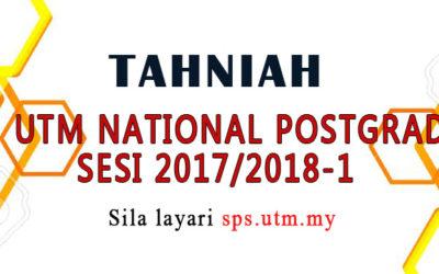 KEPUTUSAN UTM NATIONAL POSTGRADUATE FUND SESI 2017/2018-1
