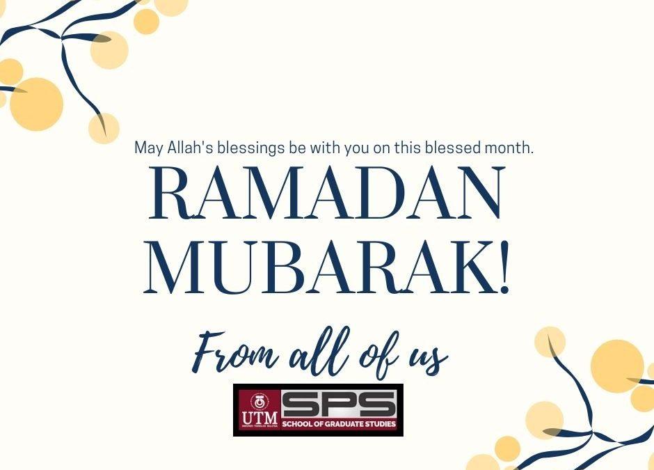 Ramadan Mubarak..