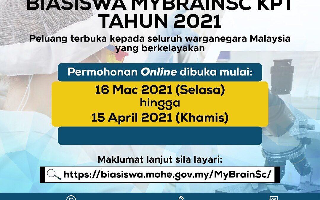 Biasiswa MybrainSc KPM TAHUN 2021