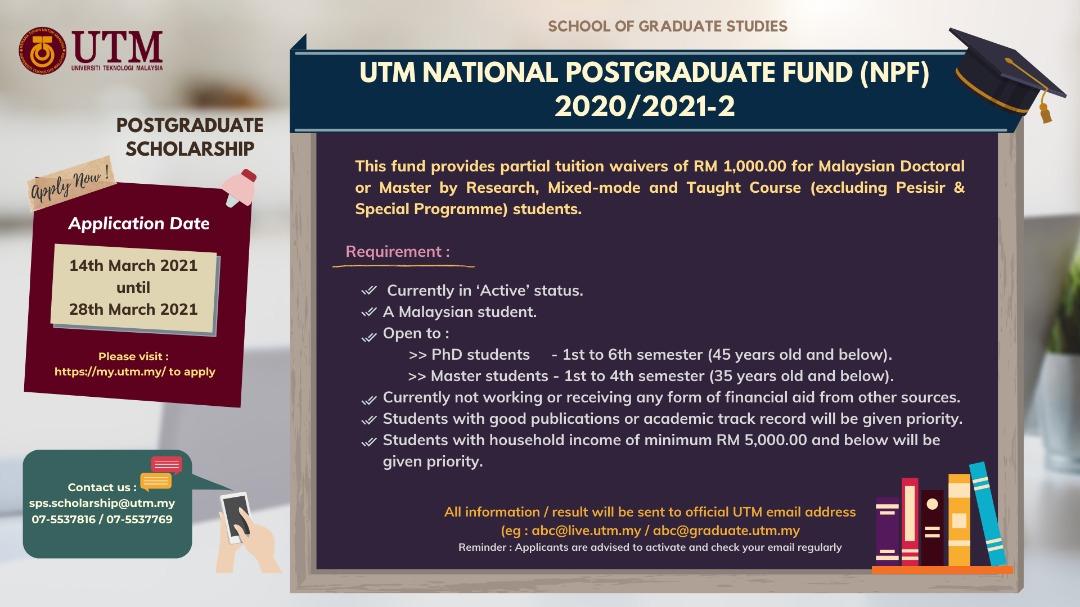 POSTGRADUATE SCHOLARSHIP 2020/2021-2