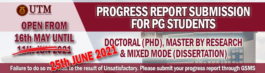 PROGRESS REPORT FOR SEM II 2020/2021